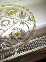 Ólomkristály tortás-tál