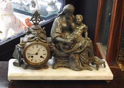 Barokk stílusú Francia kandalló óra 19. század közepe.