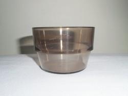 MALÉV relikvia - műanyag pohár - fedélzeti barna