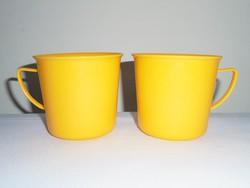 Retro műanyag pohár bögre csésze - DDR NDK Keletnémet gyártmány - 2 db
