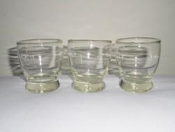 Retro üveg pohár - 1960-as évekből