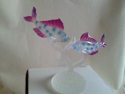 Charlie M.J. USA kézzel készített színes üvegfigura, halak sorozat