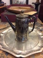 Kávéskanna, ezüst, 1867-1937 közötti diannafej jelzéssel