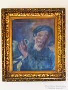 Régi jelzett festmény - F. Bogai K.