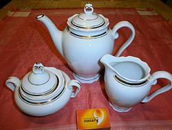Kávékiöntő, cukortartó és tejszínes porcelán