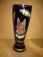 A győztes  = Sieger  ,  német juhászkutya el ismerése 35x12cm