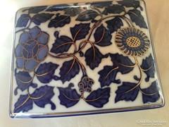 Antik porcelán tartó, szelence nagy