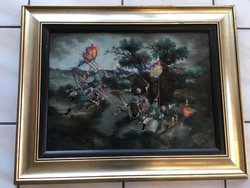 Keleti - Japán Üvegfestmény