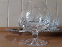 5 db ólomkristály konyakos pohár hibátlan állapotban