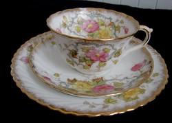 Angol szecessziós  Thomas Morris antik teás trió