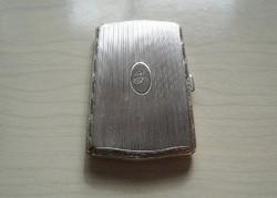 Ezüst, kicsi méretű cigaretta, szivarka tárca, dózni
