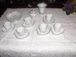 Herendi kávéskészlet  2 darab kinálóval és vázával plussz egy hófehér jelzett herendi kávéskanna