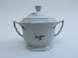 Zsolnay porcelán virágos cukortartó 1 db