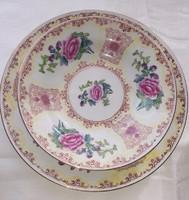 Vitrinállapotú gyönyörű virágmintás porcelán étkészlet