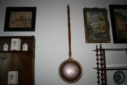 XIX. századi vörösréz ágymelegítő