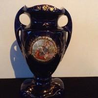 Altwien.zsáner jelenetes porcelán váza