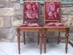 Neoreneszánsz szék szecessziós mot. kárpittal
