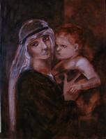 Nóth Inga - Anya MUNKÁCSY képének MESTERMÁSOLATA