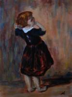 Nóth Inga - A kis bámészkodó MUNKÁCSY képének MESTERMÁSOLATA