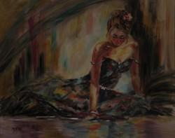 Moona - Tánc közben ANNA RAZAMUSKAYA festmény MESTERMÁSOLATA