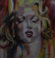 Moona - Marylin ANNA RAZAMUSKAYA festmény parafrázisa