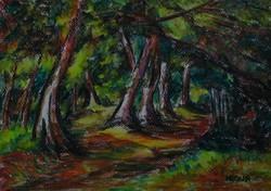 Moona - Erdei út CEZANNE festményének mestermásolata