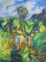 Moona - A szikla tetején CEZANNE festményének mestermásolata