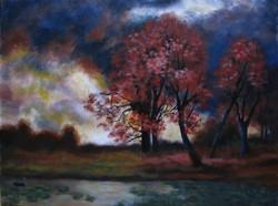 Moona - Vörös zivatar EREDETI Moona festmény