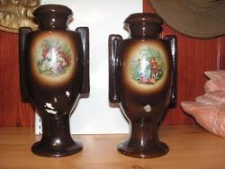 Hollóházi 2 db-os váza  1900 körüli évekből