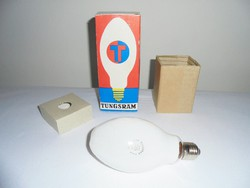 Retro TUNGSRAM HgLI 125 W higanygőz izzó égő eredeti dobozával