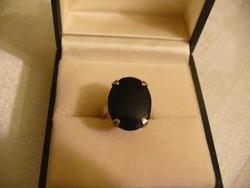 Art deco ezüst gyűrű fekete kővel