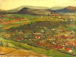 Ősz Dénes : Dunamenti falu 1953