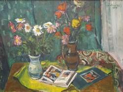 Szentgyörgyi Kornél 1959 / Tulipános csendélet KÉPCSARNOKOS