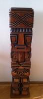 Dél-Amerikai álló fa szobor 1979