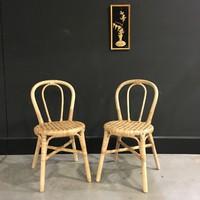 Rattan thonet formájú vintage szék