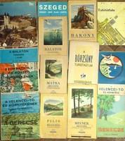 14 db régi turista térkép, egyben