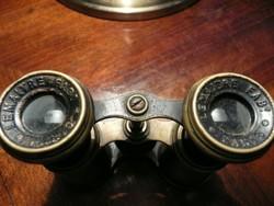 Antik francia LEMAITRE távcső hibátlan optikával eladó az 1910-es évekből