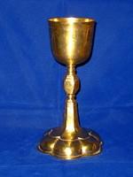18. századi német aranyozott ezüst kehely.