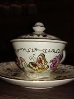 Zsolnay mokkás csésze tetővel