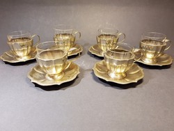 6db alpakka csésze poharakkal