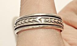 Ezüst két részből álló forgatható gyűrű