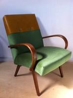 Retro bőr, bársony felújított designer fotel