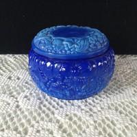 Kék színű fedeles bonbonier