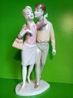 Unterweissbach szerelmes pár porcelán figura