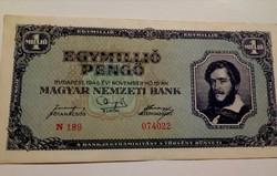 1945-ös 1 Millió Pengő EF++