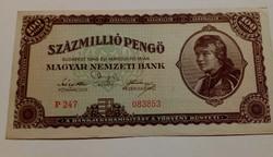 1946-os 100 Millió Pengő EF