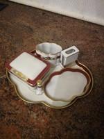 6 db-os Herendi porcelán dohányzó garnitúra