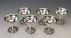 Ezüst 6 darabos fagyis pohár