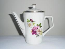 Teás kancsó tea kiöntő - Hollóházi Porcelán - virág mintás