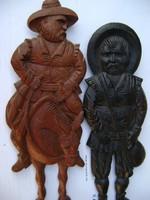 2 db fából készült falikép kézzel faragott alkotások